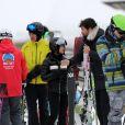 """Exclusif - Philippe Stouvenot, Jade Hallyday et Pascal Balland - Laeticia Hallyday et son compagnon Pascal Balland lors d'une journée au ski à la station """"Big Sky"""" dans le Montana avec leurs filles respectives, le 16 février 2020."""
