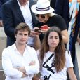 Anouchka Delon et son compagnon Julien Dereims - Célébrités dans les tribunes des internationaux de France de tennis de Roland Garros à Paris, France, le 8 juin 2019. © Jacovides / Moreau/Bestimage