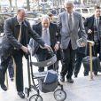 Harvey Weinstein le 24 février 2020 à la Cour suprême de l'État de New York pour son procès pour viol et agression sexuelle. Il a été reconnu coupable de deux des cinq chefs d'accusation qui pesaient sur lui.