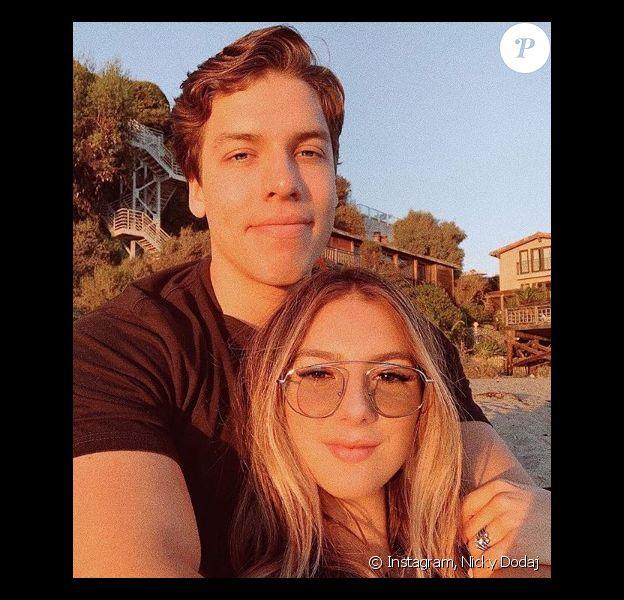 Joseph Baena et sa petite-amie Nicky Dodaj sur Instagram. Le 14 février 2020.