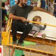 Exclusif - Brandon Jenner passe la journée avec sa femme Leah Felder et sa fille Eva à la fête foraine de Chili Cook-Off à Malibu, le 4 septembre 2017