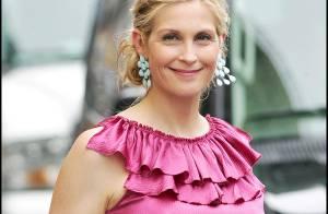 Kelly Rutherford : une jeune maman resplendissante sur le tournage de Gossip Girl !
