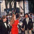 Emmanuelle Seigner et Roman Polanski au Festival de Cannes en 1990.