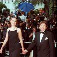 Emmanuelle Seigner et Roman Polanski au Festival de Cannes en 1997.