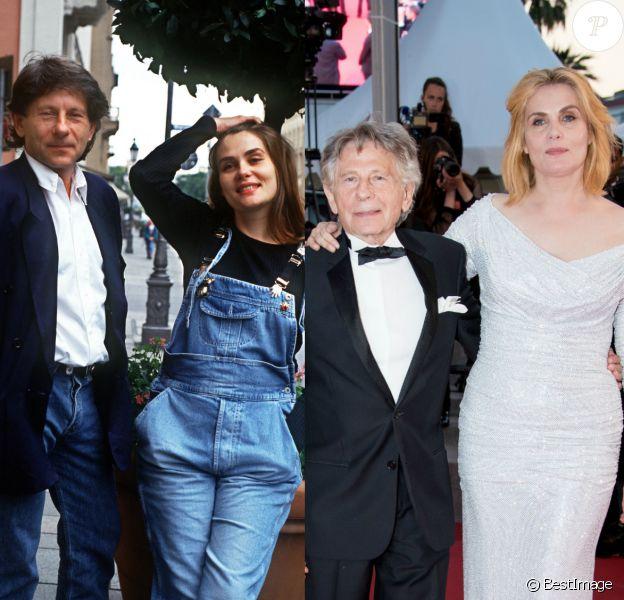 Emmanuelle Seigner et Roman Polanski, retour sur leur histoire d'amour en images. Ici en 1992 et 2017.