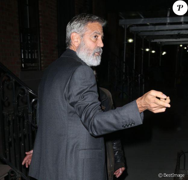 George et Amal Clooney sortent pour la soirée à New York, le 1er octobre 2019.