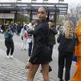 Jourdan Dunn - Sorties du défilé de mode prêt-à-porter automne-hiver 2020/2021 Balmain à Paris le 28 février 2020.