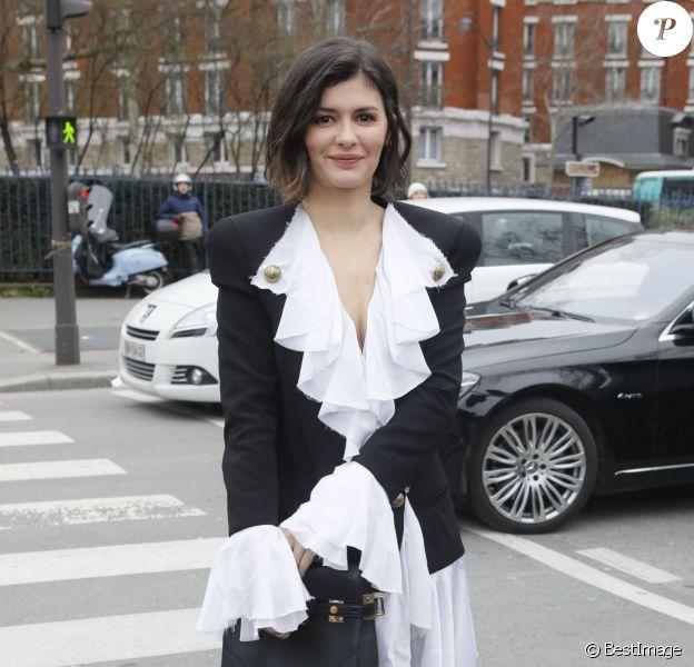 Audrey Tautou - Arrivées au défilé de mode prêt-à-porter automne-hiver 2020/2021 Balmain à Paris le 28 février 2020.