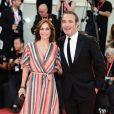 """Jean Dujardin et sa femme Nathalie Péchalat - Red carpet pour le film """"J'accuse!"""" lors du 76ème festival du film de venise, la Mostra le 30 Août 2019."""