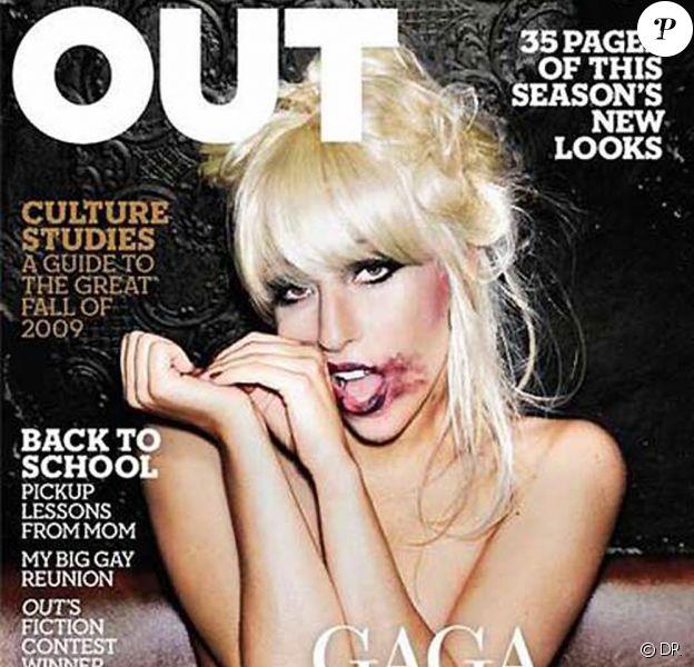 Lady GaGa en couverture du magazine Out