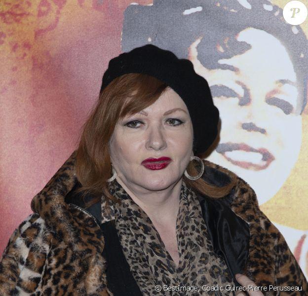 """Catherine Jacob - Première de la pièce """"Est ce que j'ai une gueule d'Arletty ?"""" au théâtre Montparnasse à Paris le 4 février 2020. © Coadic Guirec-Pierre Perusseau/Bestimage"""