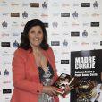 """Dolores Aveiro, la mère de Cristiano Ronaldo, présente son livre """"Mère Courage"""" à Madrid, le 27 avril 2016."""