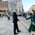 Le prince William, duc de Cambridge, et Catherine (Kate) Middleton, duchesse de Cambridge, assistent à une cérémonie commémorative de dépôt de couronnes au Garden of Remembrance à Dublin, Irelande, le 3 mars 2020, pour une visite officielle de 3 jours.