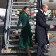 Le prince William, duc de Cambridge, et Catherine (Kate) Middleton, duchesse de Cambridge, arrivent à l'aéroport international de Dublin, Irelande, le 3 mars 2020, pour une visite officielle de 3 jours.