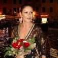 Catherine Zeta-Jones en vacances à Portofino en Italie le 31 juillet 2019.