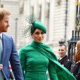 Le prince Harry, duc de Sussex, et Meghan Markle, duchesse de Sussex - La famille royale d'Angleterre à son arrivée à la cérémonie du Commonwealth en l'abbaye de Westminster à Londres. Le 9 mars 2020.