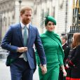 Le prince Harry, duc de Sussex, et Meghan Markle, duchesse de Sussex - La famille royale d'Angleterre à son arrivée à la cérémonie du Commonwealth en l'abbaye de Westminster à Londres. Le 9 mars 2020 09/03/2020 - Londres