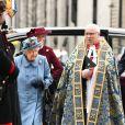 La reine Elisabeth II d'Angleterre - La famille royale d'Angleterre à son arrivée à la cérémonie du Commonwealth en l'abbaye de Westminster à Londres. Le 9 mars 2020.
