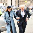 Le premier ministre britannique Boris Johnson et sa compagne Carrie Symonds - Arrivées à la cérémonie du Commonwealth en l'abbaye de Westminster à Londres. Le 9 mars 2020.