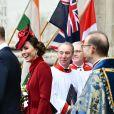 Le prince William, duc de Cambridge, et Kate Middleton, duchesse de Cambridge - La famille royale d'Angleterre à la sortie de la cérémonie du Commonwealth en l'abbaye de Westminster à Londres. Le 9 mars 2020.