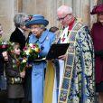 La reine Elisabeth II d'Angleterre - La famille royale d'Angleterre à la sortie de la cérémonie du Commonwealth en l'abbaye de Westminster à Londres. Le 9 mars 2020.