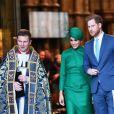 Meghan Markle, duchesse de Sussex, et le prince Harry, duc de Sussex - La famille royale d'Angleterre à la sortie de la cérémonie du Commonwealth en l'abbaye de Westminster à Londres. Le 9 mars 2020.