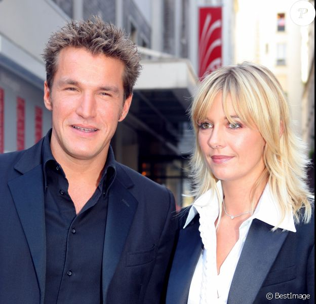 Benjamin Castaldi et Flavie Flament le 5 septembre 2006 à Paris.