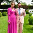 Spencer Matthews et Vogue Williams - Les célébrités lors du Derby Investec d'Epsom le 1er juin 2018.