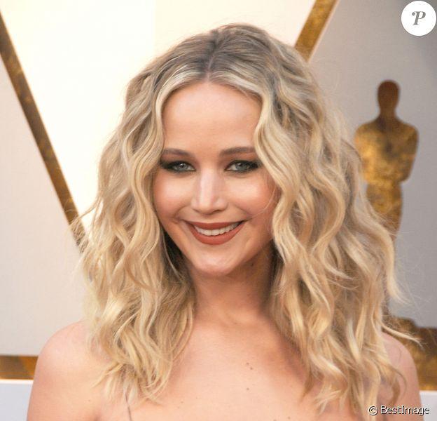 Jennifer Lawrence - 90ème cérémonie des Oscars 2018 au théâtre Dolby à Los Angeles le 4 mars 2018.