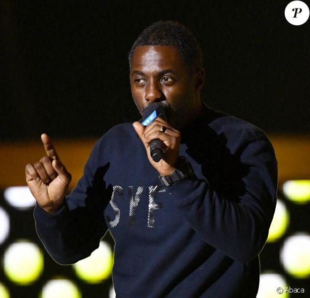 Idris Elba au concert WE Day UK à la SSE Arena, au stade de Wembley. Londres, le 4 mars 2020.