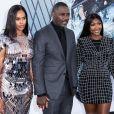 """Idris Elba avec sa femme Sabrina Dhowre Elba et leur fille Isan Elba à la première du film """"Fast & Furious Hobbs & Shaw"""" à Los Angeles, le 13 juillet 2019."""