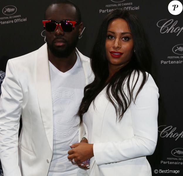 Maitre Gims et sa femme DemDem - Photocall de la soirée Chopard lors du 69ème Festival International du Film de Cannes le 16 mai 2016.