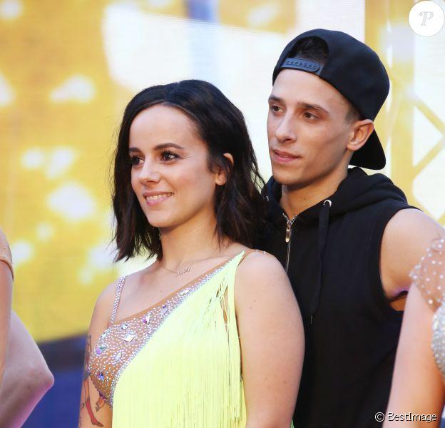 """Alizée et son compagnon Grégoire Lyonnet - Spectacle """"Danse avec les stars"""" lors du 55ème Festival de Télévision de Monte-Carlo à Monaco, le 14 juin 2015."""