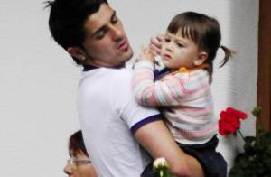 David Villa, la star de l'attaque espagnole : papa d'une deuxième petite fille !