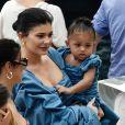 Exclusif - Prix Spécial - No Web - Kylie Jenner et sa fille Stormi Webster sont allés se promener dans le village de pêcheurs de Portofino, Italy, le 12 août 2019.
