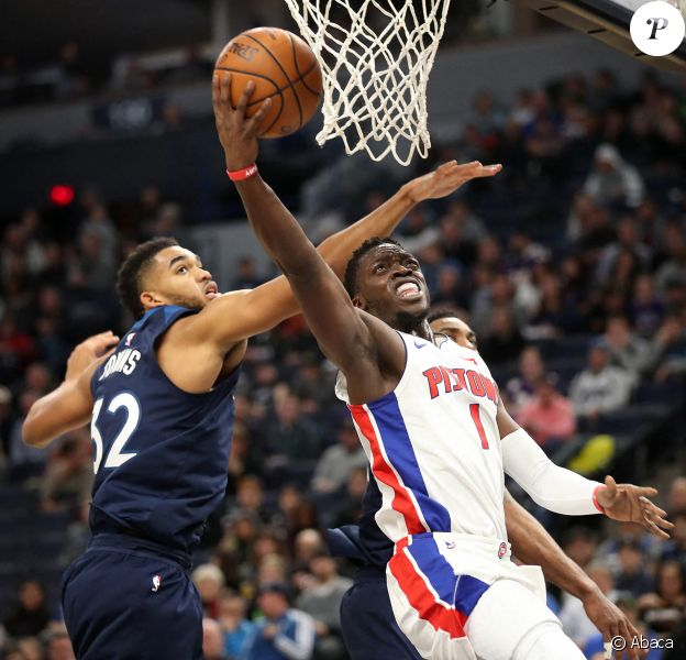 Karl-Anthony Towns lors du match Minnesota Timberwolves - Detroit Pistons. Novembre 2020.