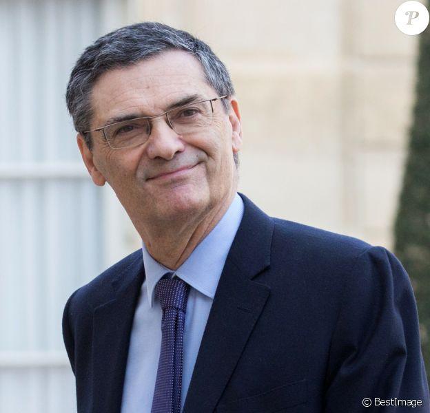 Patrick Devedjian - Déjeuner avec les présidents des conseils départementaux à l'occasion du Grand Débat National au palais de l'Elysée à Paris. Le 21 février 2019.