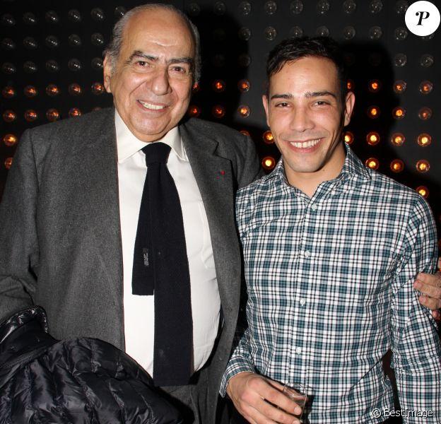 """Exclusif - Pierre Bénichou, Steevy Boulay - Steevy Boulay fête son 34ème anniversaire dans le bar restaurant le """"Who's"""" dans le Marais à Paris le 19 février 2014."""