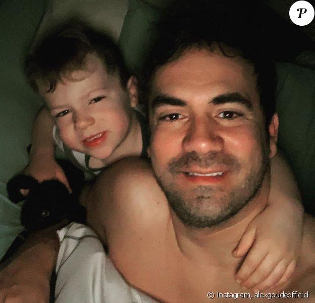 Alex Goude et son fils Elliot, sur Instagram, le 15 février 2020.