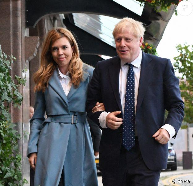 Boris Johnson et Carrie Symonds à Manchester, le 29 septembre 2019.
