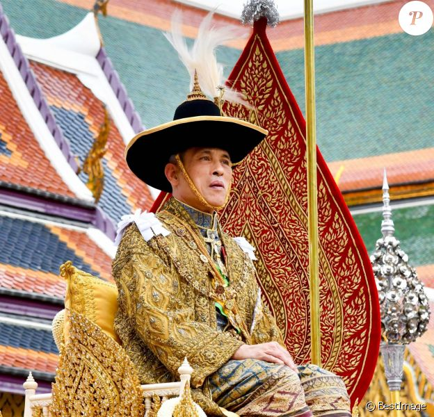 Couronnement du roi Rama X à Bangkok en Thaïlande, le 4 mai 2019.