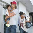 Halle Berry, Gabriel Aubry et Nahla vont au restaurant Nobu de Malibu. 23/08/09