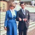 Fiançailles de Lady Diana avec le prince Charles à Londres en 1981.