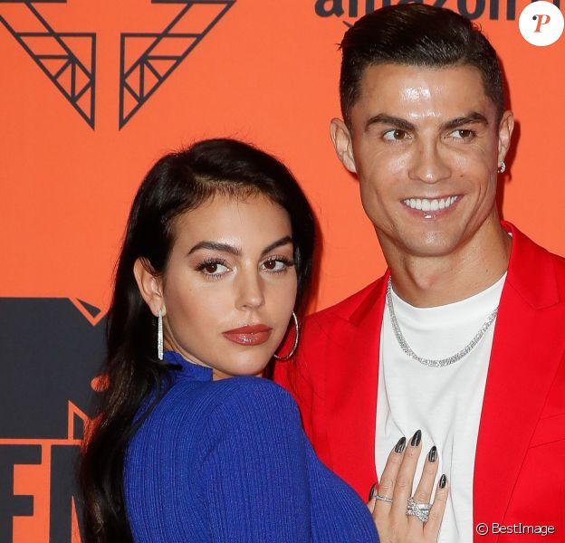 Cristiano Ronaldo et sa compagne Georgina Rodriguez à la soirée MTV European Music Awards 2019 (MTV EMA's) au FIBES Conference and Exhibition Centre à Séville en Espagne, le 3 novembre 2019.