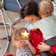 Daniela Martins avec sa fille et son fils, tendre moment dévoilé sur Instagram, le 5 avril 2020