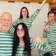 Demi Moore, Bruce Willis et leurs filles Scout, Rumer et Tallulah sont en confinement ensemble dans l'Idaho. Mars 2020.