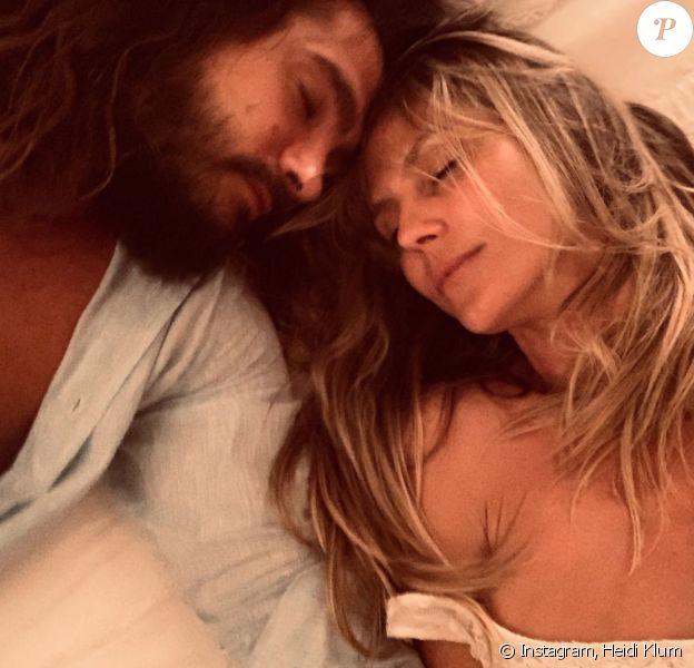 Heidi Klum et son compagnon Tom Kaulitz. Avril 2020.
