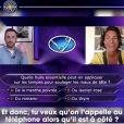 """Alessandra Sublet et Camille Combal dans l'émission """"Qui veut gagner des millions"""" sur TF1. Le 28 avril 2020."""