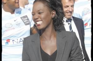 Rama Yade, tellement heureuse... d'embrasser Sébastien Chabal !