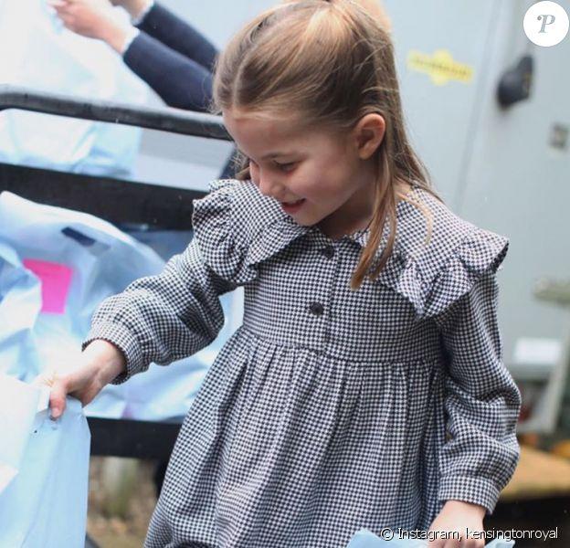La princesse Charlotte fête ses 5 ans, sur Instagram, le 1er mai 2020.